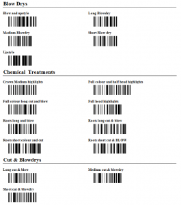 barcoded services print